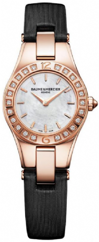 BAUME & MERCIER Linea 18ct Rose Gold & Diamond Ladies Watch 10091